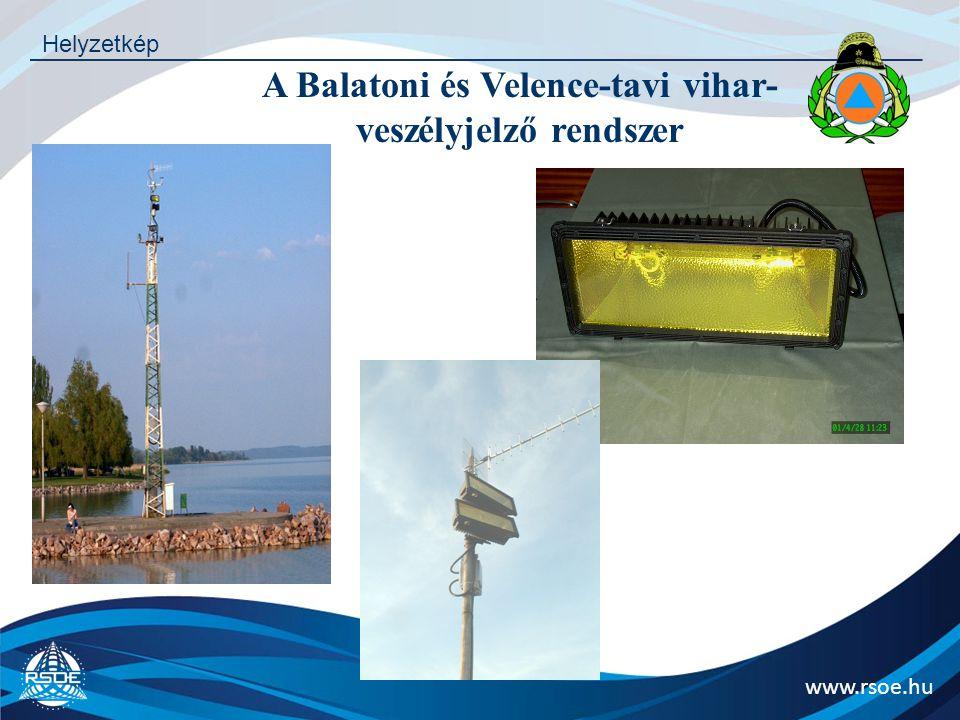 A Balatoni és Velence-tavi vihar-veszélyjelző rendszer