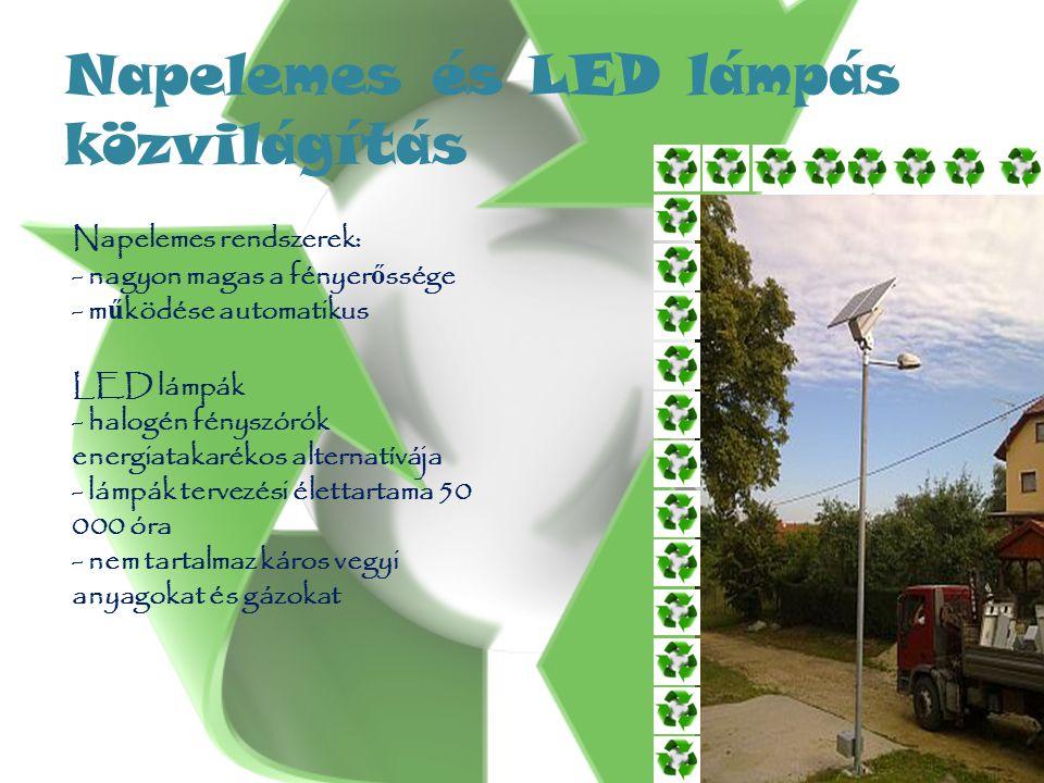 Napelemes és LED lámpás közvilágítás