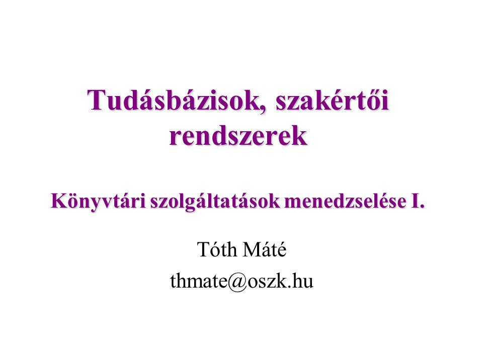 Tóth Máté thmate@oszk.hu