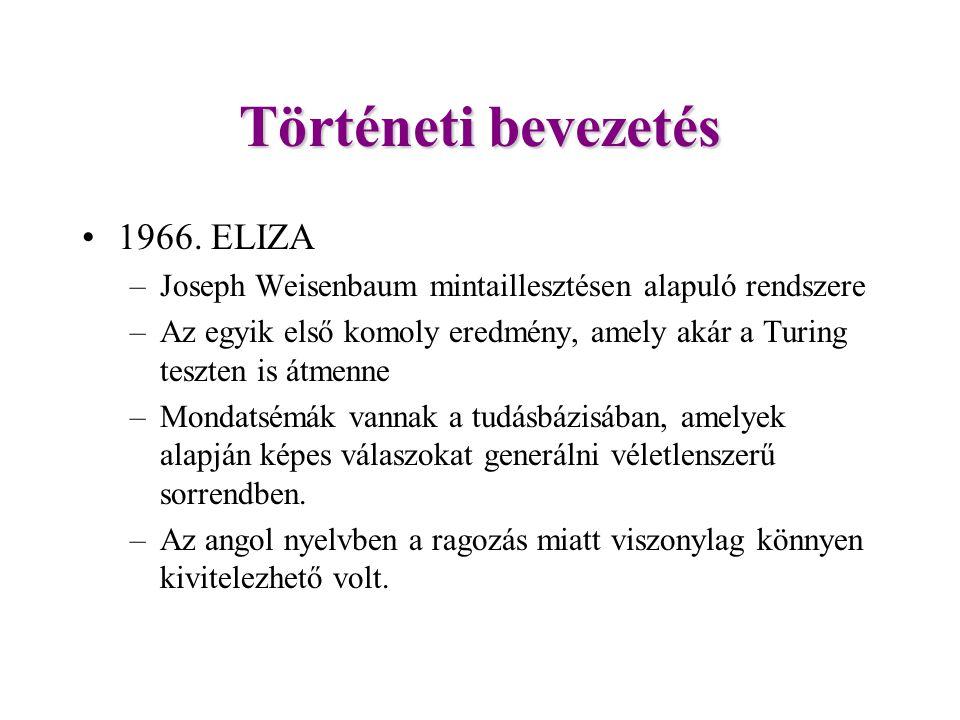 Történeti bevezetés 1966. ELIZA