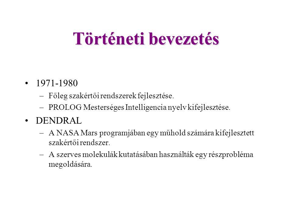 Történeti bevezetés 1971-1980 DENDRAL