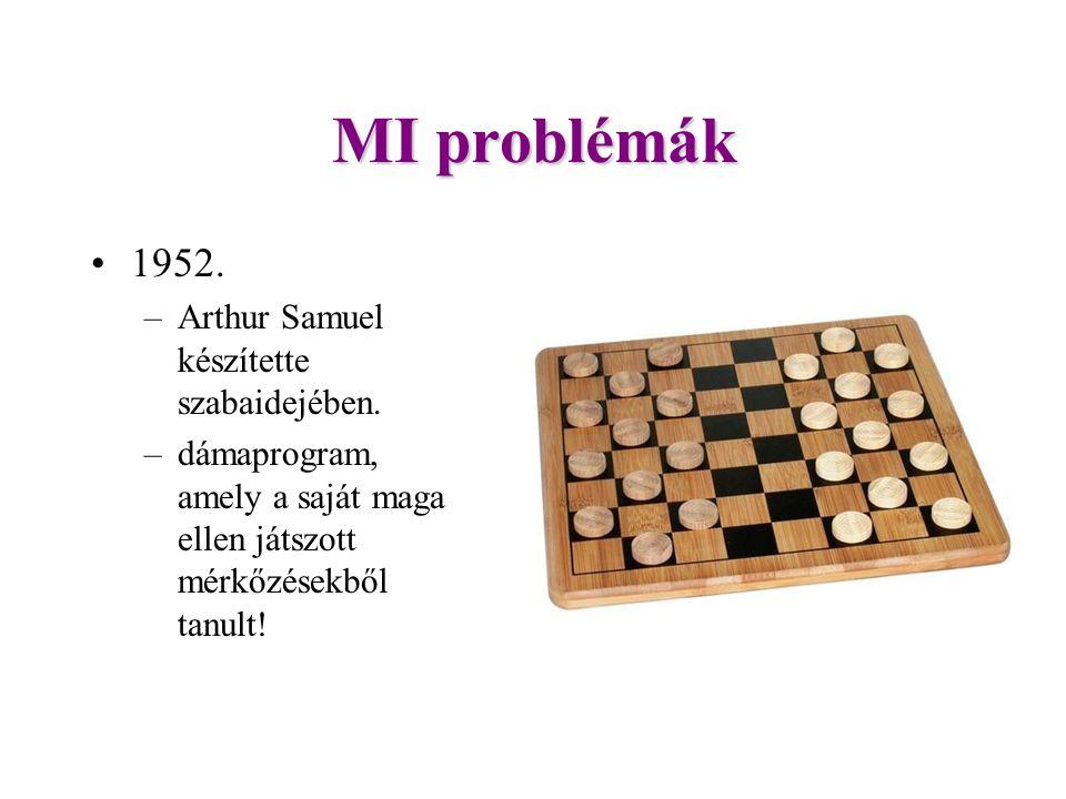MI problémák 1952. Arthur Samuel készítette szabaidejében.