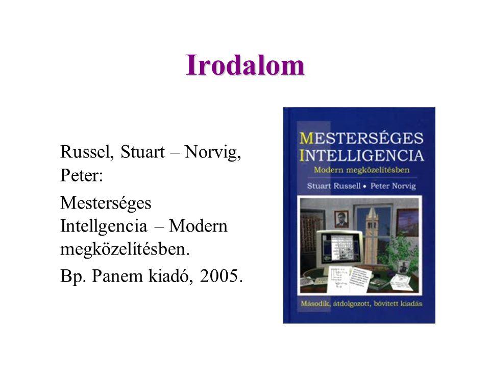 Irodalom Russel, Stuart – Norvig, Peter: