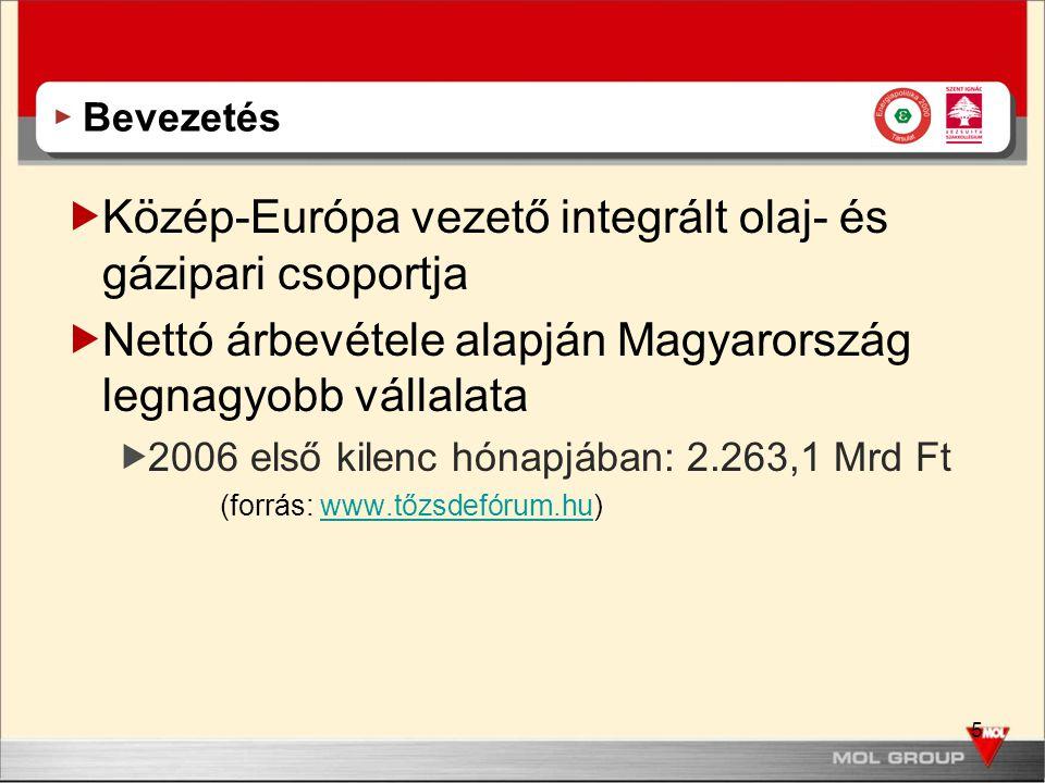 Közép-Európa vezető integrált olaj- és gázipari csoportja