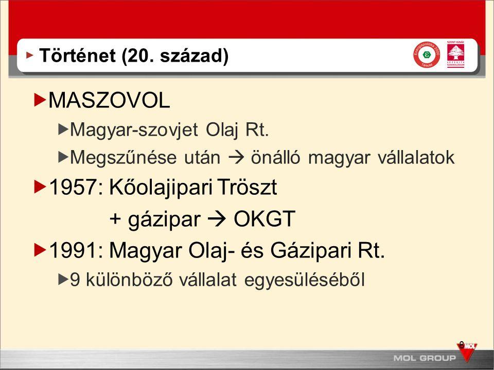 1991: Magyar Olaj- és Gázipari Rt.