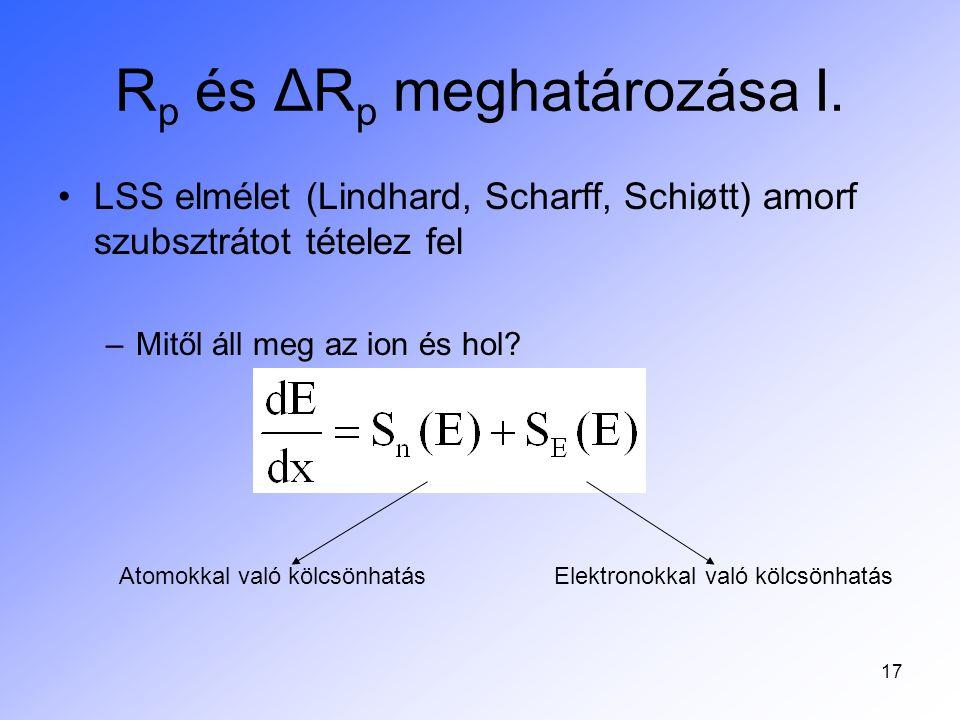 Rp és ΔRp meghatározása I.