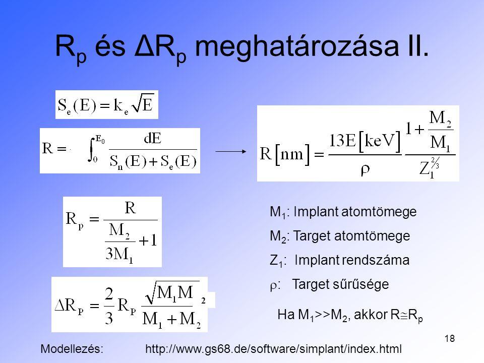 Rp és ΔRp meghatározása II.