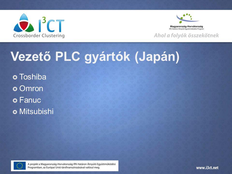 Vezető PLC gyártók (Japán)