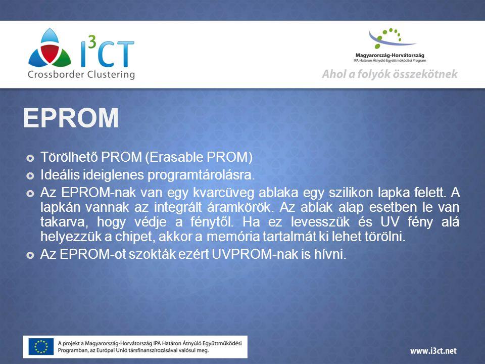 EPROM Törölhető PROM (Erasable PROM)