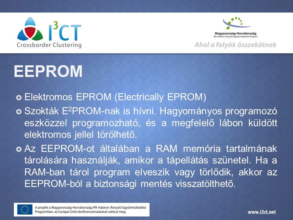 EEPROM Elektromos EPROM (Electrically EPROM)