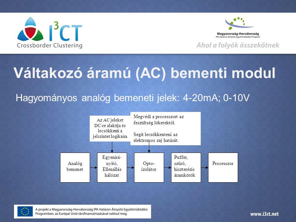 Váltakozó áramú (AC) bementi modul