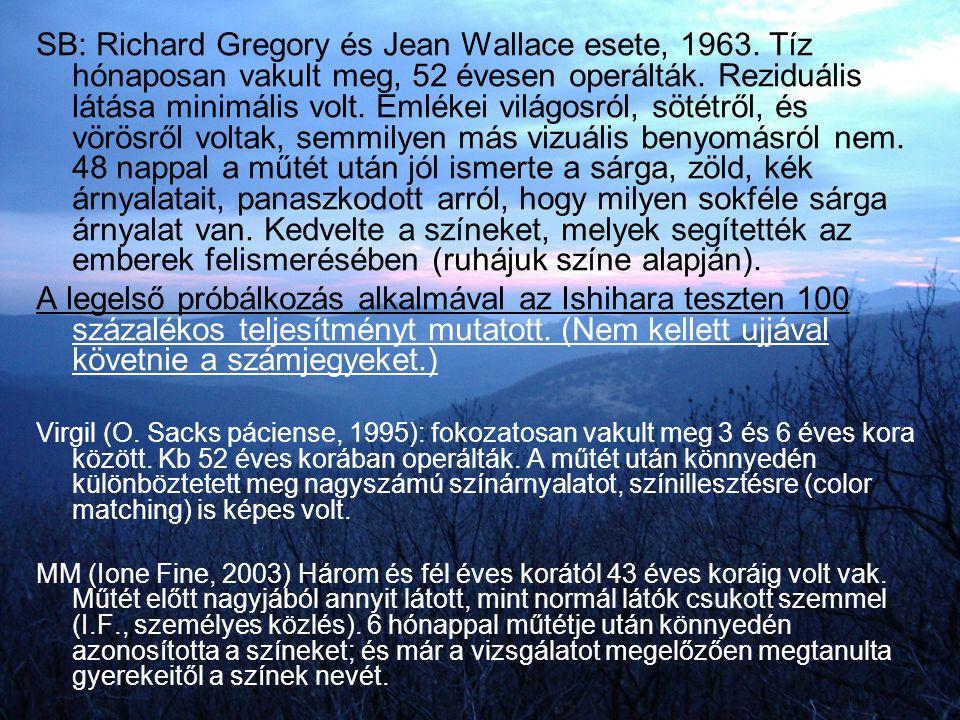 SB: Richard Gregory és Jean Wallace esete, 1963