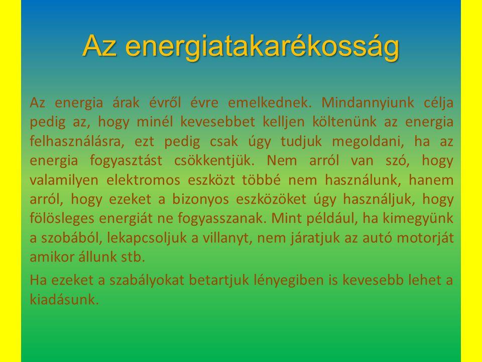 Az energiatakarékosság