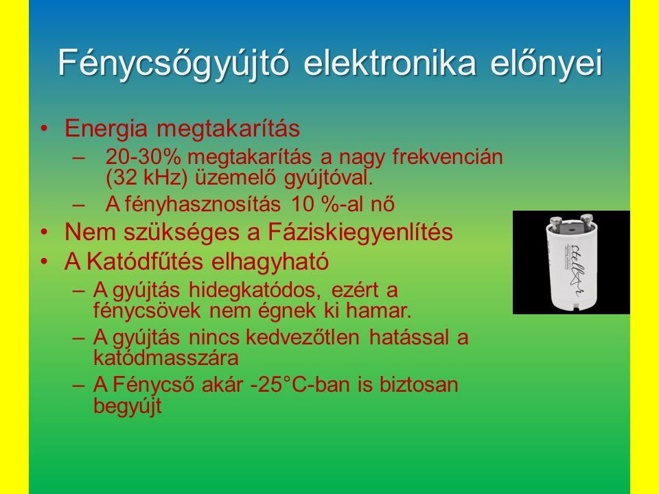 Fénycsőgyújtó elektronika előnyei
