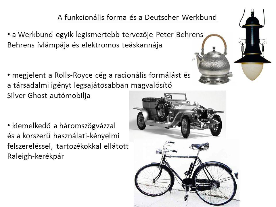 A funkcionális forma és a Deutscher Werkbund