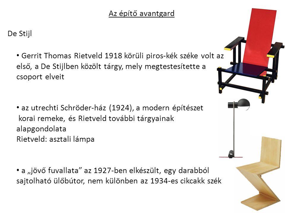 Az építő avantgard De Stijl.