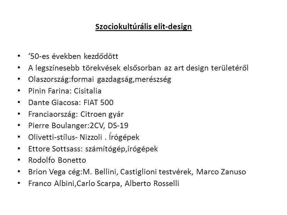 Szociokultúrális elit-design