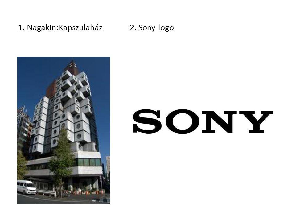 1. Nagakin:Kapszulaház 2. Sony logo