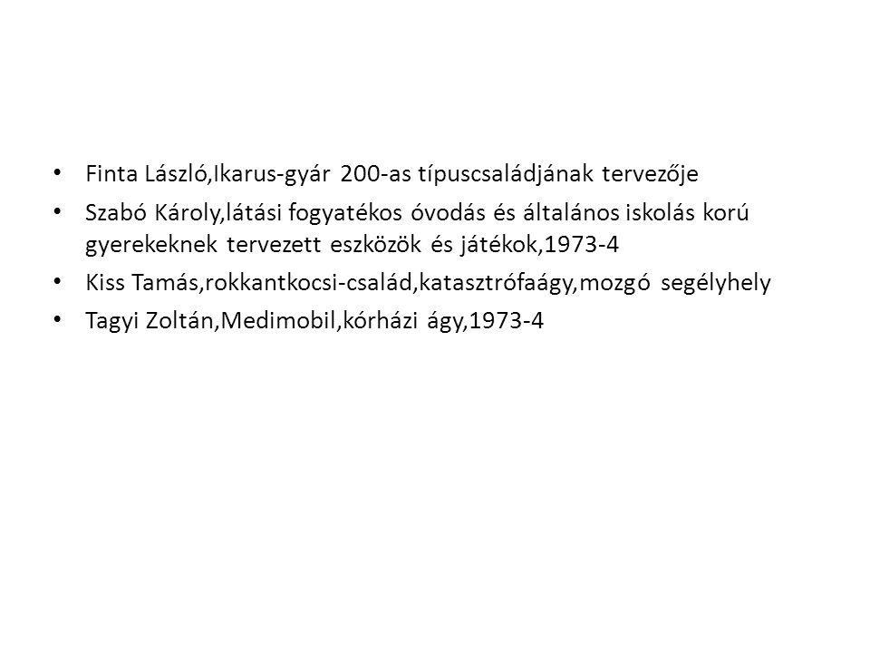 Finta László,Ikarus-gyár 200-as típuscsaládjának tervezője