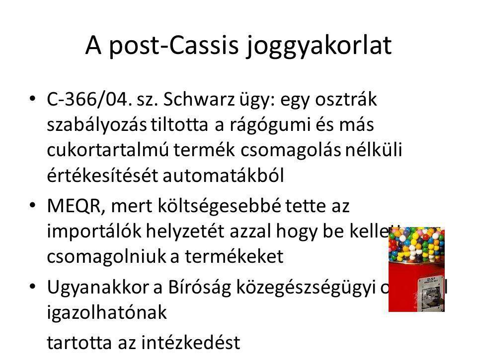 A post-Cassis joggyakorlat