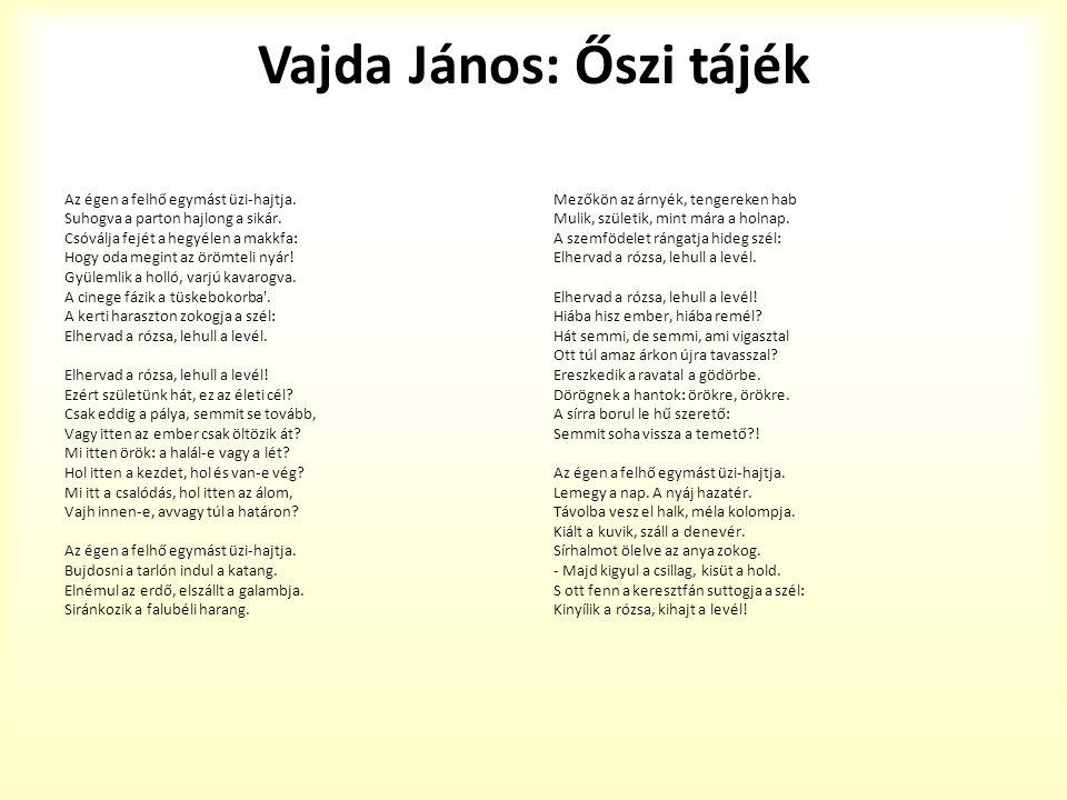 Vajda János: Őszi tájék