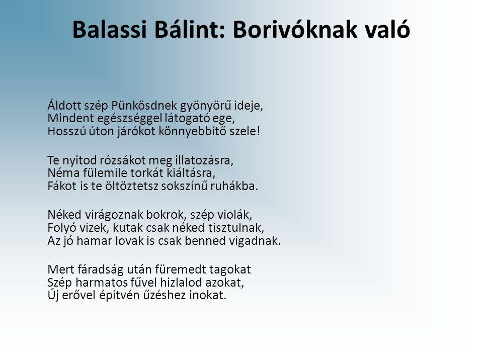 Balassi Bálint: Borivóknak való
