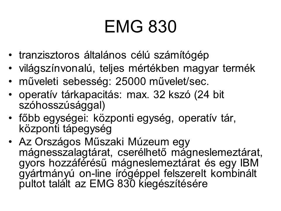 EMG 830 tranzisztoros általános célú számítógép