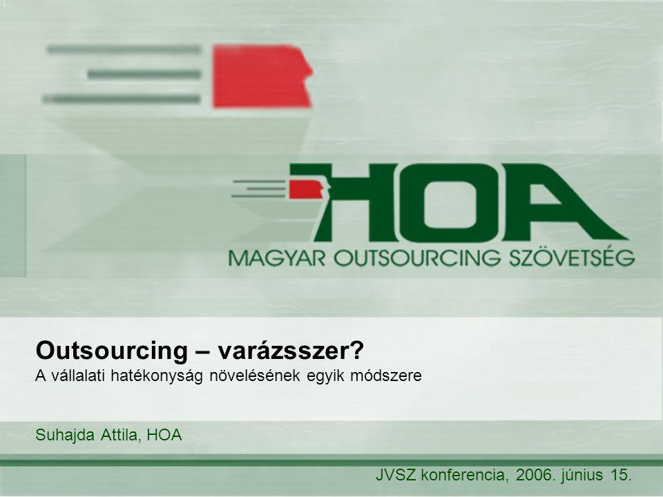 Outsourcing – varázsszer