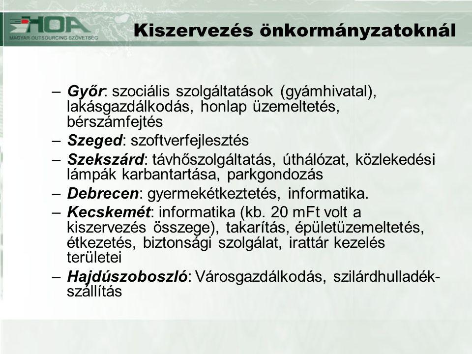 Kiszervezés önkormányzatoknál