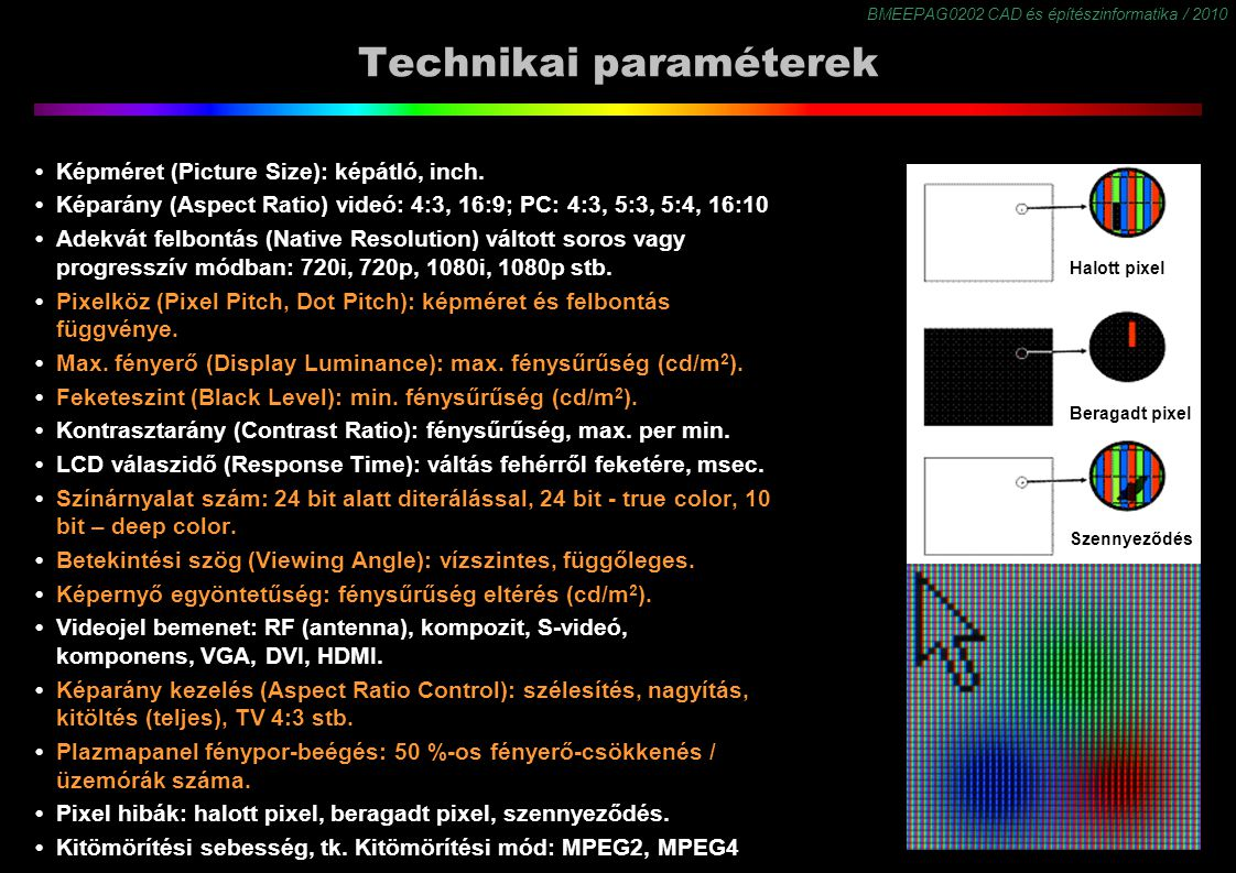 Technikai paraméterek