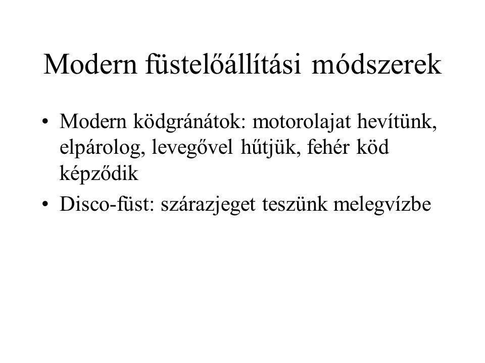 Modern füstelőállítási módszerek