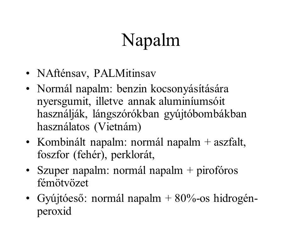 Napalm NAfténsav, PALMitinsav