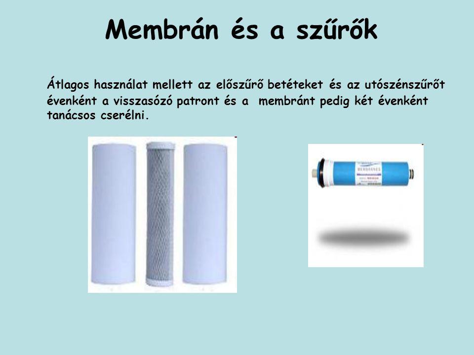Membrán és a szűrők