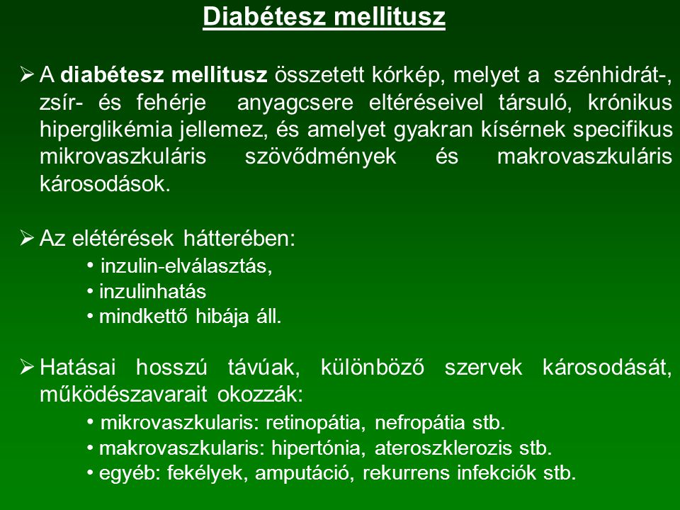 Diabétesz mellitusz