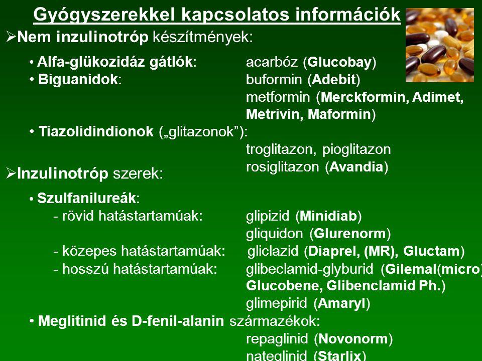 Gyógyszerekkel kapcsolatos információk
