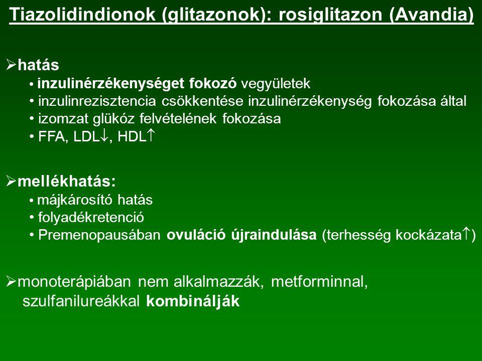 Tiazolidindionok (glitazonok): rosiglitazon (Avandia)