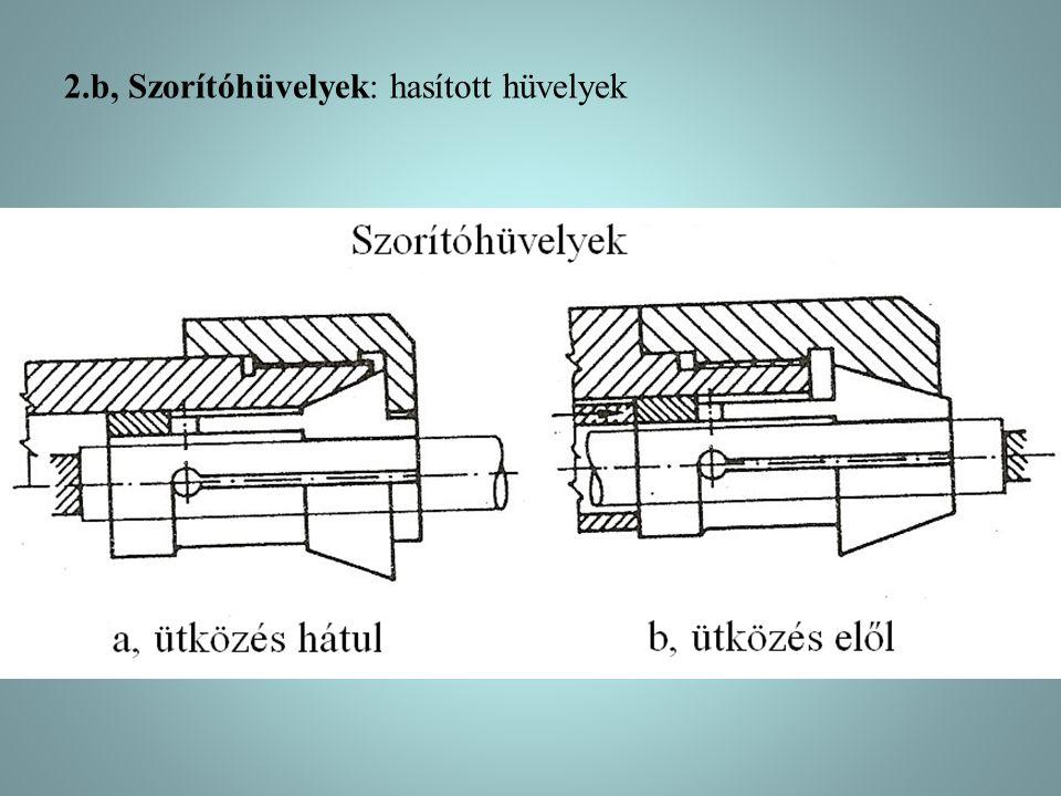 2.b, Szorítóhüvelyek: hasított hüvelyek