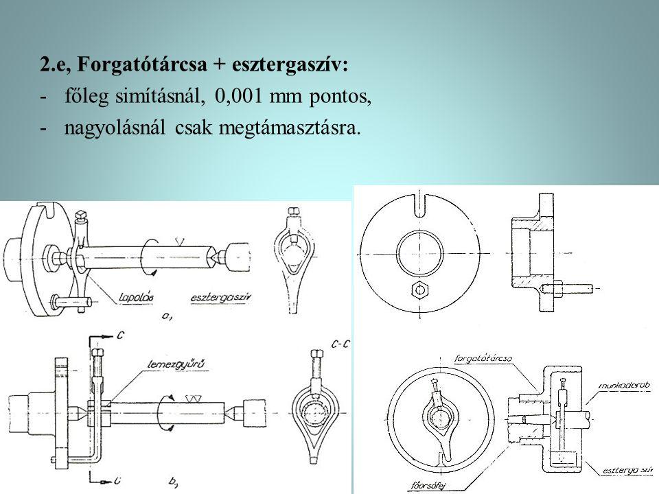 2.e, Forgatótárcsa + esztergaszív: