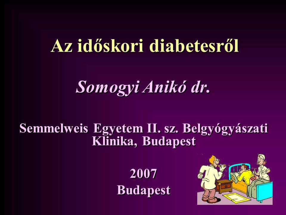 Az időskori diabetesről