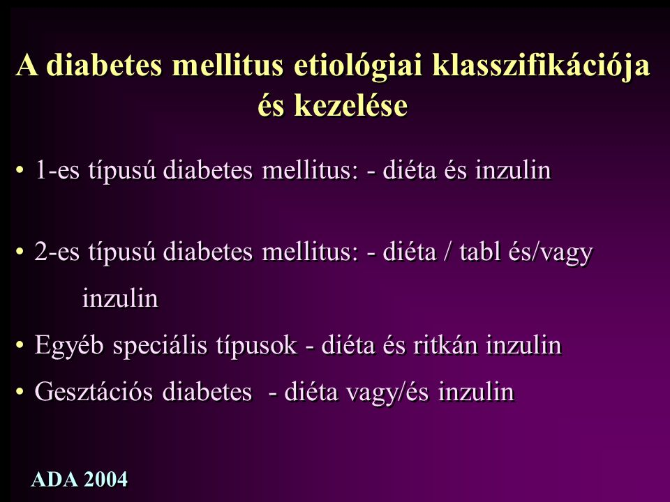 A diabetes mellitus etiológiai klasszifikációja