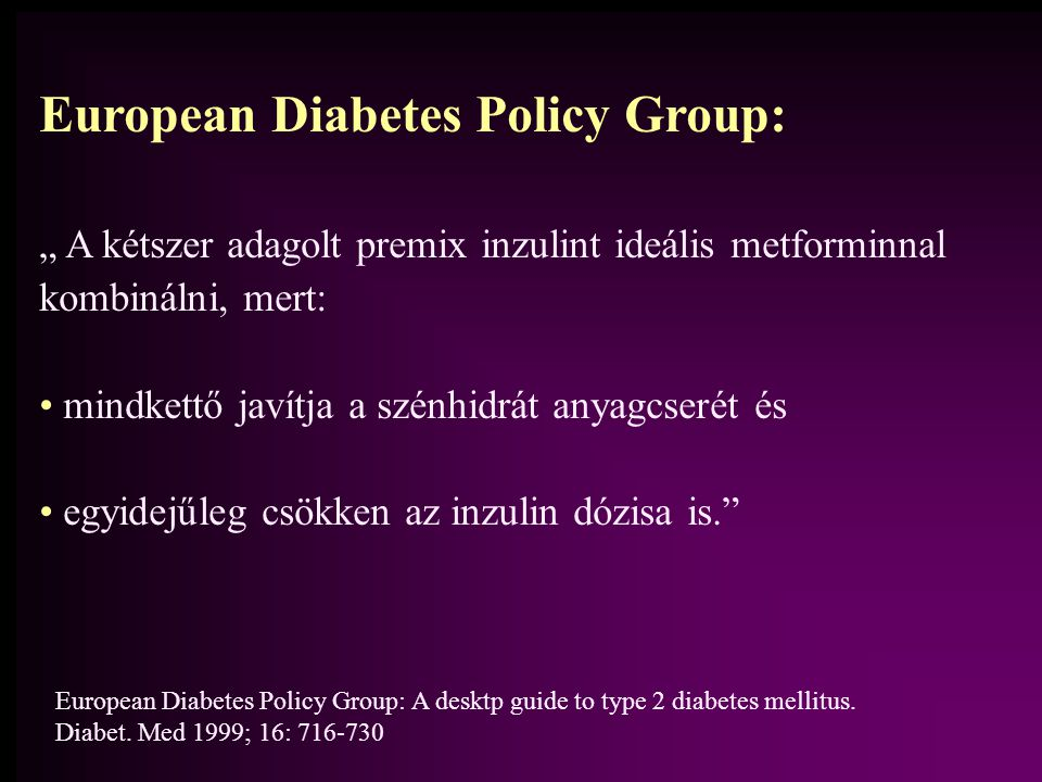 European Diabetes Policy Group: