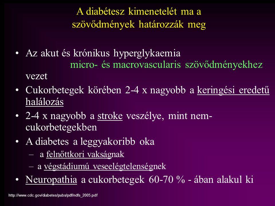A diabétesz kimenetelét ma a szövődmények határozzák meg