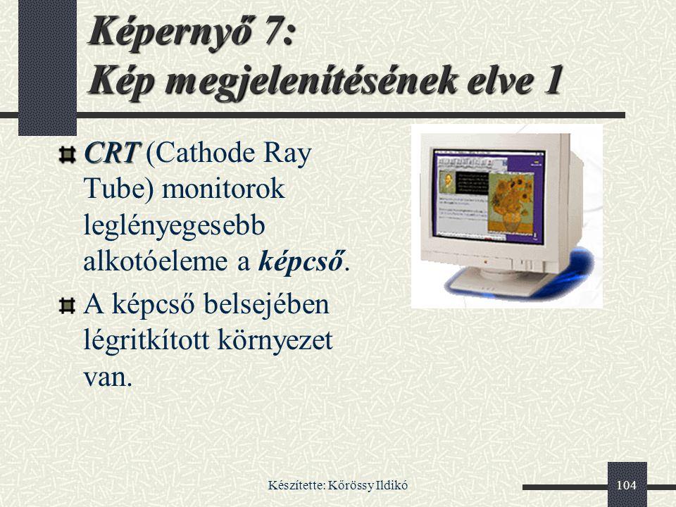 Képernyő 7: Kép megjelenítésének elve 1