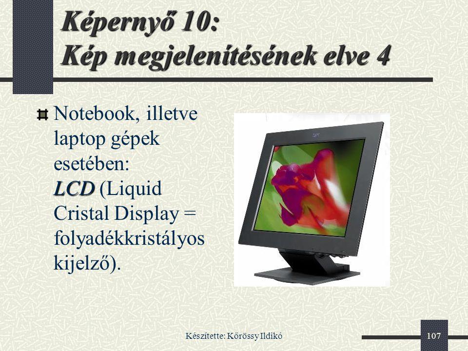 Képernyő 10: Kép megjelenítésének elve 4