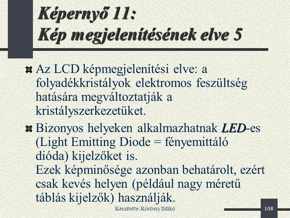 Képernyő 11: Kép megjelenítésének elve 5