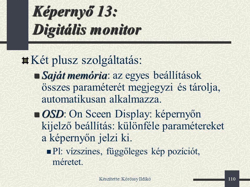 Képernyő 13: Digitális monitor