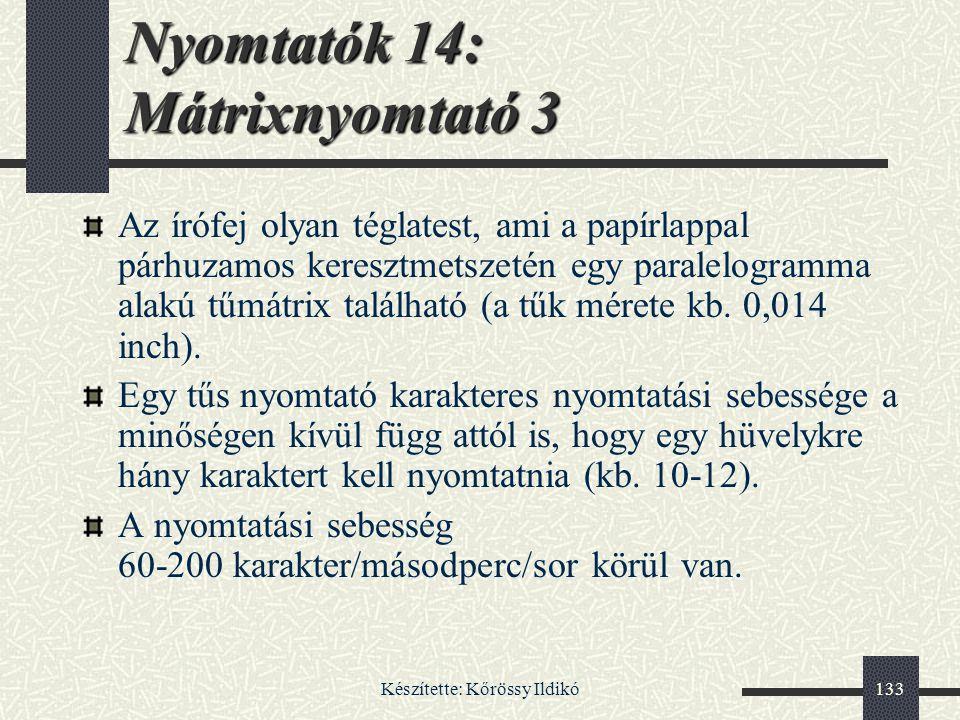 Nyomtatók 14: Mátrixnyomtató 3