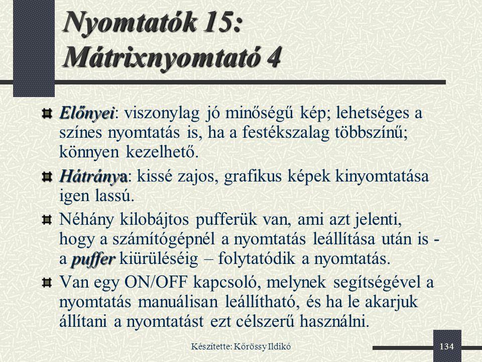 Nyomtatók 15: Mátrixnyomtató 4