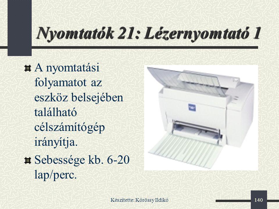 Nyomtatók 21: Lézernyomtató 1