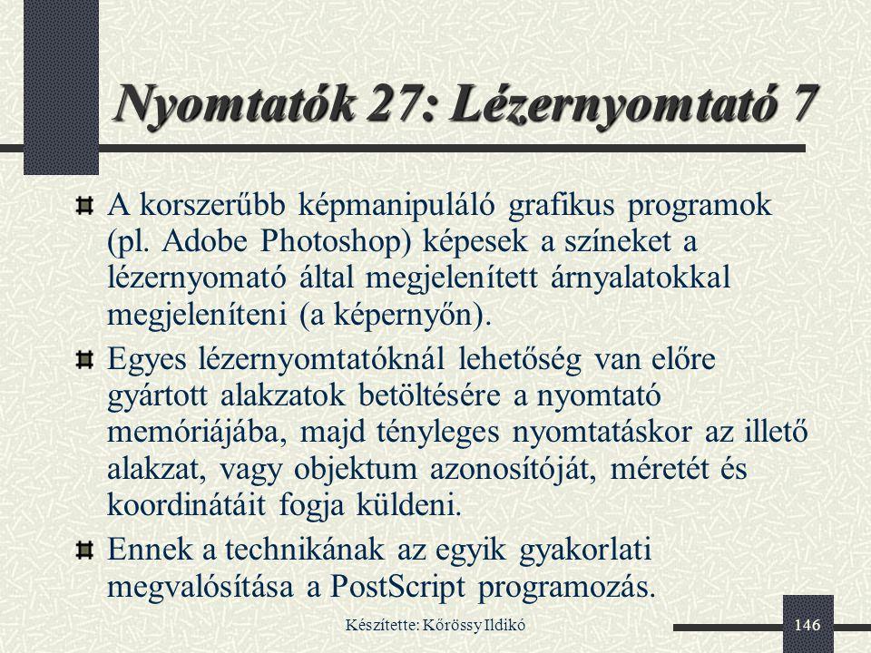 Nyomtatók 27: Lézernyomtató 7